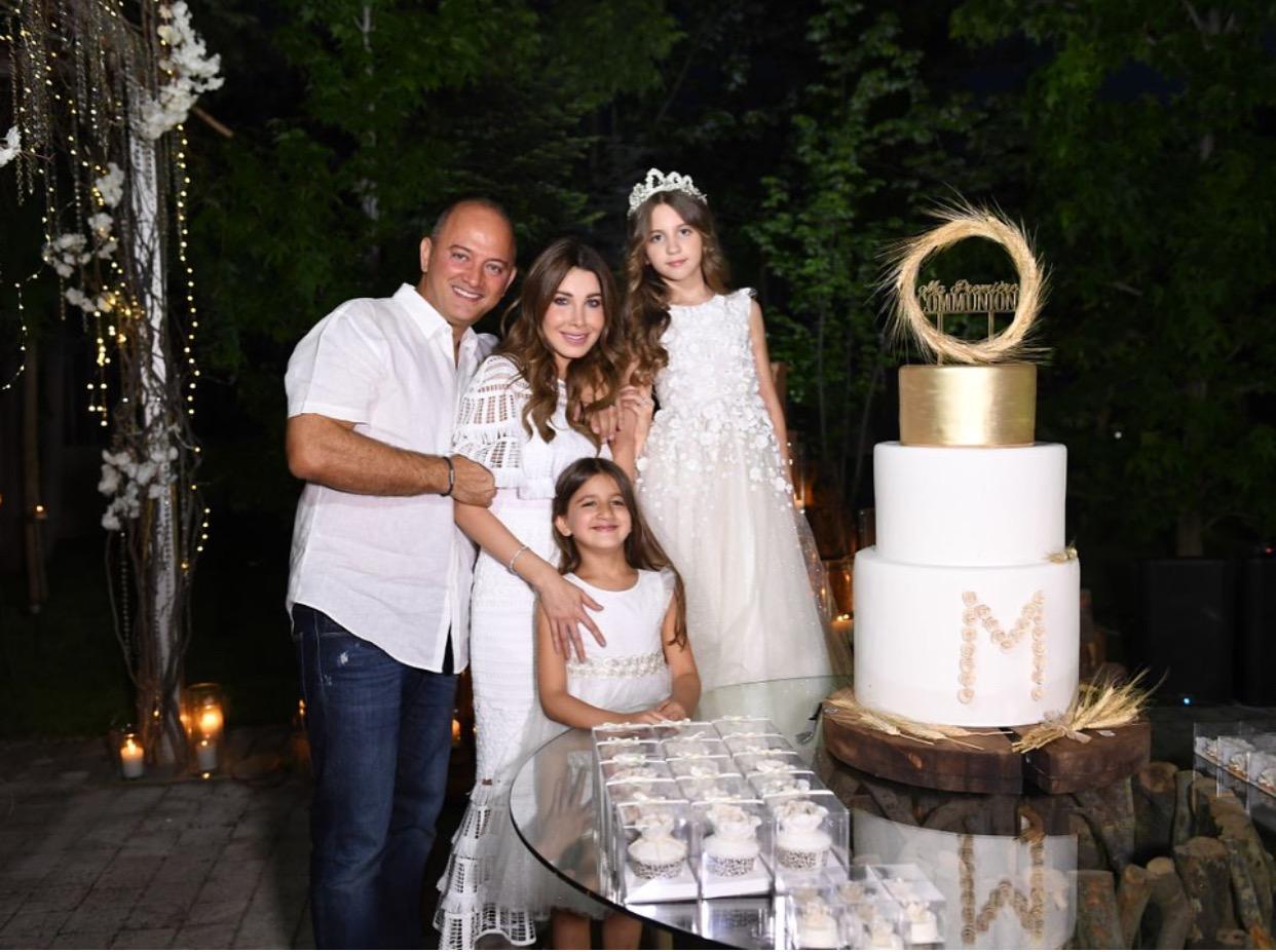 نانسي عجرم تحتفل بعيد ميلاد ابنتها ميلا في منزلها ،وصور ولا في الخيال