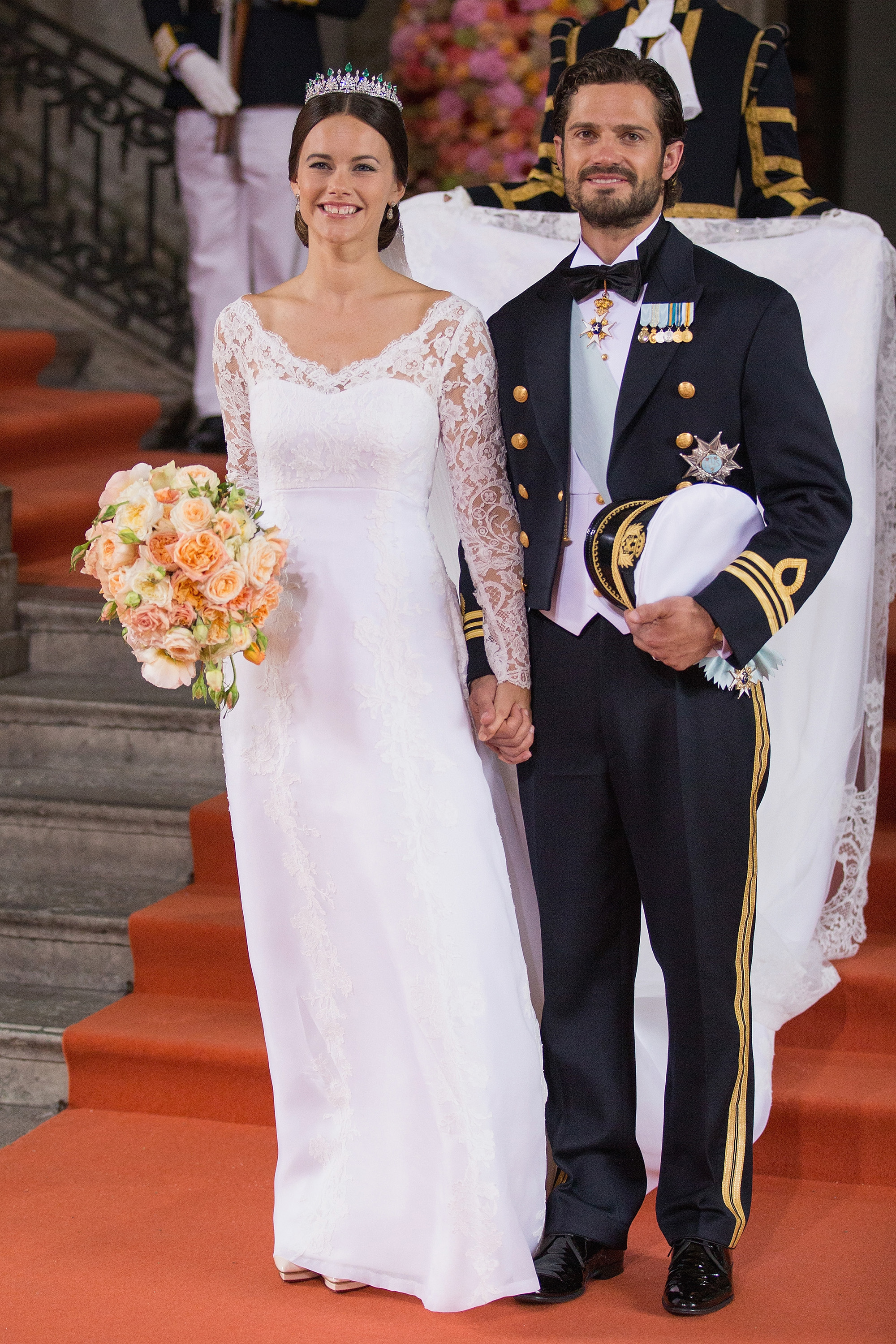 STOCKHOLM, SWEDEN - JUNE 13: Prince Carl Philip of Sweden is seen with his new wife Princess Sofia, Duchess of Varmland after their marriage ceremony on June 13, 2015 in Stockholm, Sweden. (Photo by Andreas Rentz/Getty Images)