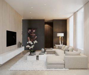 8ad3bbac75041b6d700e20af5e3152f7 300x253 غرف جلوس هادئة و بسيطة