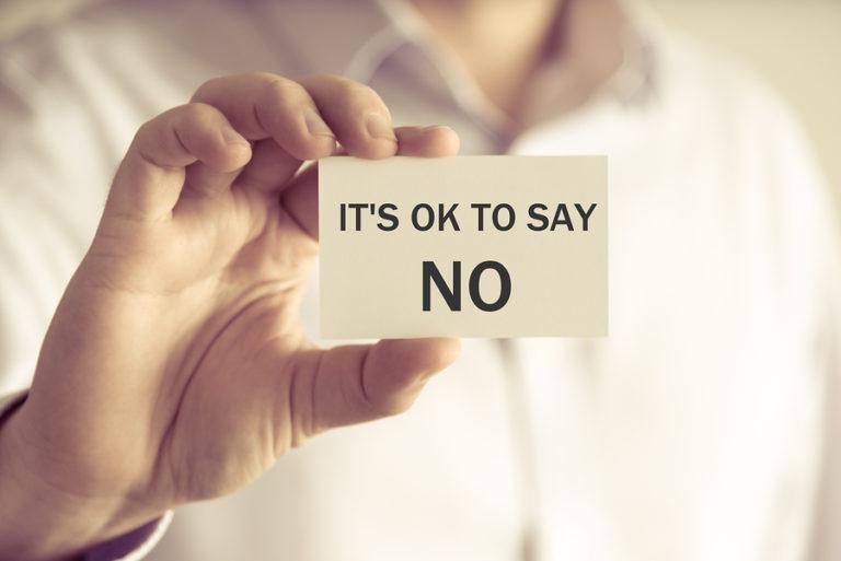 """كيف تقول """" لا """" بأسلوب لبق"""