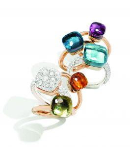 NUDO rings by Pomellato 265x300 في موسم العطلات ، ابحث عن قطع الأحجار الكريمة المتعددة الأوجه من مجوهرات Pomellato