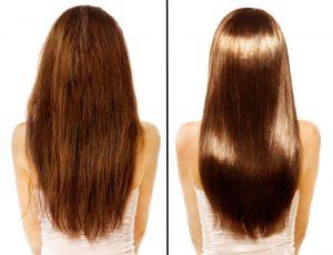 before after hair1 300x230 ما هي فوائد زيت الأركان للشعر