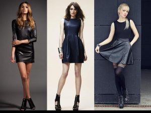 IRISINK model shot navy leather dress21 300x225 الجلد يترأس موضة شتاء 2018